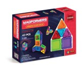 Magformers Rainbow Solids, Clear, 44 Pieces