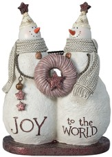 Joy to the World Snowman Figurine