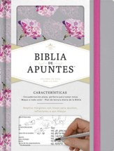 RVR 1960 Biblia de Apuntes, Tela Impresa Gris y Floreada (Notetaking Bible, Gray & Floral Cloth Over Board)