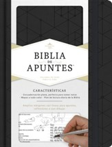 RVR 1960 Biblia de Apuntes, piel  simil negra (Notetaking Bible, Black LeatherTouch)