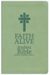 Faith Alive Bible- Green with Cross - Imperfectly Imprinted Bibles