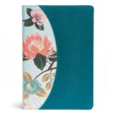 The CSB Study Bible for Women, Teal Flowers LeatherTouch