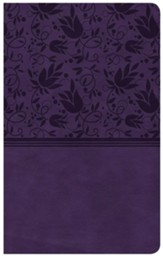 CSB Compact Ultrathin Reference Bible, Purple LeatherTouch, Thumb-Indexed - Slightly Imperfect