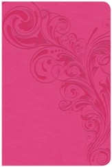 CSB Compact Ultrathin Reference Bible, Pink LeatherTouch, Thumb-Indexed