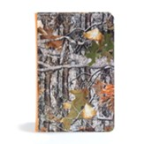CSB Sportsman's Bible, Large Print Personal Size Edition, Mothwing Camouflage LeatherTouch - Imperfectly Imprinted Bibles