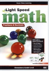 Light Speed Math Fractions & Decimals DVDs