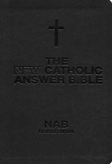 NABRE New Catholic Answer Bible Librosario Edition, Black/Tan Imitation Leather