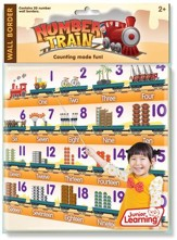 Number Train Wall Border