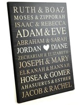 Personalized, Large Plaque with Bible Names, Black