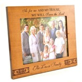 Personalized, Photo Frame, Large, Natural Wood, As    For Me and My House