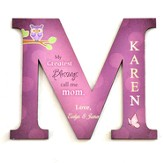 Personalized, Magnet, Letter M, My Greatest Blessings  Call Me Mom, Purple