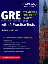 GRE 2015 Strategies, Practice, and Review with 4 Practice Tests: Book + Online - Slightly Imperfect