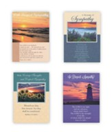Landscapes Sympathy Cards, Box of 12