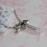 I Love You Dearly, Message In A Bottle Necklace