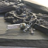 Proverbs 3:6, Message In A Bottle Necklace