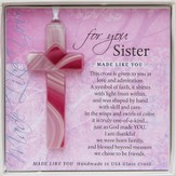 Sister, Hanging Cross, Pink