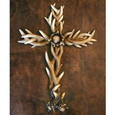 Antler-Look Wall Cross