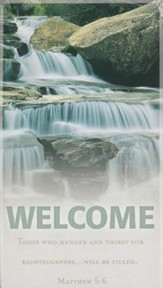 Waterfall Welcome Pew Cards, 50