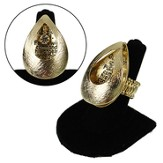 Gold Open Tear Angels Guard Stretch Ring