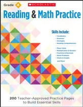 Reading and Math Practice (Grade 4)                  4): 200 Teacher-Approved Practice Pages to Build