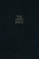 KJV Open Bible, Bonded leather, black indexed