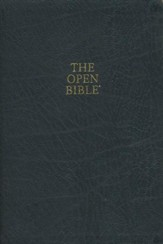 NKJV Open Bible, Bonded leather, black indexed