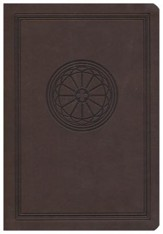 The NKJV Study Bible, Leathersoft dark chocolate