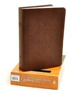 NKJV Gaither Homecoming Bible, Leathersoft, brown indexed