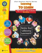 21st Century Skills: Learning to  Learn Big Book, Grades 3-8+