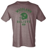 Woodlawn Believe Shirt, Brown, Small