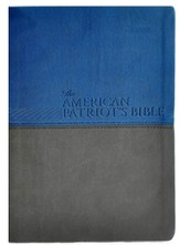 NKJV American Patriot's Bible, Large Print, Soft leather-look, blue