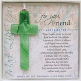 Friend, Hanging Cross, Green