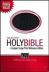 KJV Compact Large Print Reference Bible, Leathersoft, black