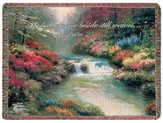 He Leadeth Me Beside Still Waters Tapestry Throw