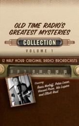 Old Time Radio's Greatest Mysteries Collection, Volume 1 -12 Half-Hour Original Radio Broadcasts (OTR) on CD