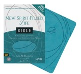 NIV New Spirit Filled Life Bible, Imitation leather, turquoise--indexed