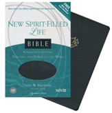 NIV New Spirit Filled Life Bible--bonded leather, black  (indexed)