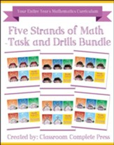 Five Strands of Math: Task & Drills  Bundle, Grades PreK-8