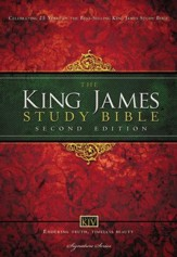 King James Study Bible, Second Edition, Hardcover  - Imperfectly Imprinted Bibles