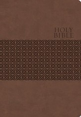King James Study Bible, Second Edition, Leathersoft, Earth Brown