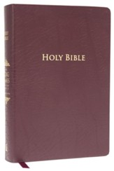 King James Study Bible, Second Edition, Bonded Leather, Burgundy--indexed - Imperfectly Imprinted Bibles