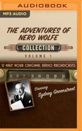 The Adventures of Nero Wolfe Collection, Volume 1 - 12 Half-Hour Original Radio Broadcasts on MP3-CD
