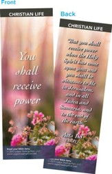 You Shall Receive Power Bookmarks, Pack of 25