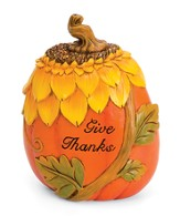 Give Thanks Pumpkin Tabletop Décor