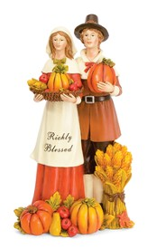 Pilgrim Couple Figurine, Richly Blessed