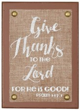 Give Thanks to the Lord Tabletop Plaque
