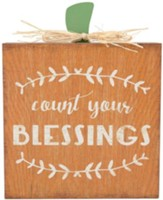 Count Your Blessings Tabletop Plaque
