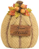 Give Thanks Pumpkin Figurine