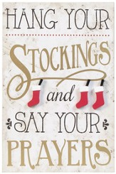 Hang Your Stockings Wall Plaque