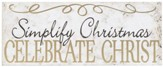 Simplify Christmas Tabletop Plaque